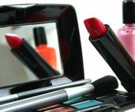Assortiment des produits de beauté des femmes photos libres de droits