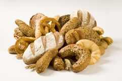 Assortiment des produits de boulangerie Photo stock