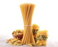 Assortiment des pâtes crues Images stock
