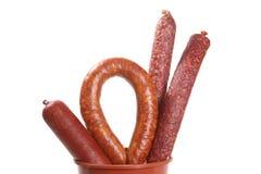 Assortiment des saucisses Image stock