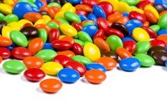 Assortiment des sucreries de chocolat colorées Photos libres de droits