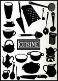 Assortiment des ustensiles de cuisine illustration stock