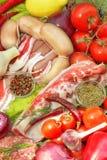 Assortiment sain de nourriture Photo libre de droits