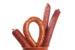 Assortiment of sausages Stock Image