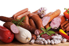 Assortiment of sausages Stock Photography