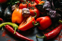 Assortiment végétal organique de nourriture image libre de droits