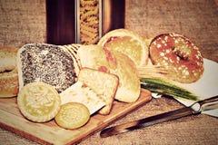 Assortiment van bakkerijproducten royalty-vrije stock afbeelding