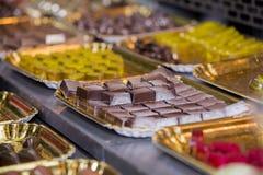 Assortiment van chocolade Stock Foto's