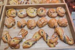 Assortiment van Franse gebakken goederen Stock Foto