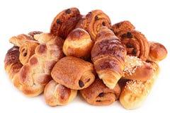 Assortiment van gebakjes stock foto's