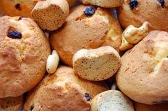 Assortiment van gebakken brood Stock Fotografie