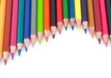Assortiment van gekleurde potloden Stock Foto