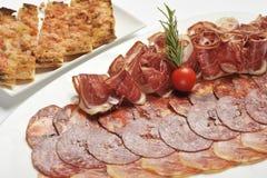 Assortiment van gesneden koud vlees Royalty-vrije Stock Fotografie