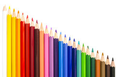 Assortiment van kleurenpotloden Stock Fotografie