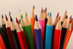 assortiment van kleurenpotloden Selectieve nadruk Royalty-vrije Stock Foto