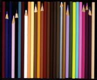Assortiment van kleurpotloden Royalty-vrije Stock Afbeelding