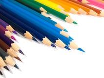 Assortiment van kleurpotloden Stock Fotografie