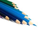 Assortiment van kleurpotloden Royalty-vrije Stock Afbeeldingen