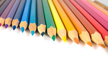Assortiment van kleurpotloden Royalty-vrije Stock Foto's