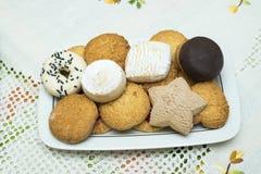 Assortiment van koekjes Stock Foto's