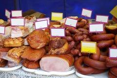 Assortiment van Koud Vlees Royalty-vrije Stock Afbeeldingen