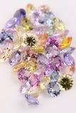 Assortiment van multicolored Edelstenen. royalty-vrije stock foto