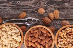 Assortiment van noten Stock Afbeeldingen