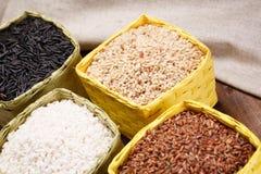 Assortiment van rijst Stock Foto's
