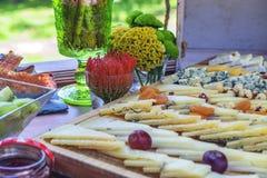 Assortiment van schaak voor buffetpartij stock afbeeldingen