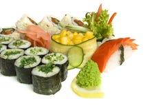 Assortiment van sushi Royalty-vrije Stock Foto's
