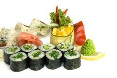 Assortiment van sushi Stock Foto's