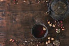 Assortiment van thee als achtergrond Royalty-vrije Stock Fotografie