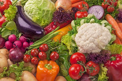 Assortiment van verse groenten Stock Afbeeldingen