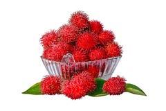 Assortiment van Vruchten op Witte Achtergrond worden geïsoleerd die Royalty-vrije Stock Foto