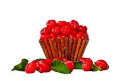 Assortiment van Vruchten op Witte Achtergrond worden geïsoleerd die Royalty-vrije Stock Fotografie