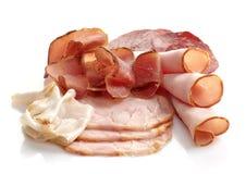 Assortimento affumicato della carne Fotografia Stock Libera da Diritti