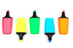 Assortimento degli etichettatori colorati immagini stock libere da diritti