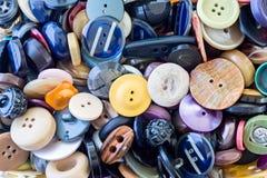 Assortimento dei bottoni colorati Fotografia Stock Libera da Diritti
