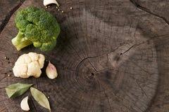 Assortimento dei broccoli e del cavolfiore dei cavoli Immagini Stock Libere da Diritti