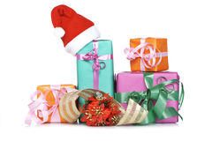 Assortimento dei contenitori di regalo Immagini Stock