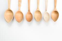 Assortimento dei cucchiai di legno Immagine Stock
