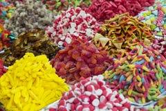 Assortimento dei dolci colorati gelatinizzati come prodotto Immagini Stock Libere da Diritti