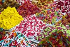 Assortimento dei dolci colorati gelatinizzati come prodotto Fotografia Stock