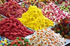 Assortimento dei dolci colorati gelatinizzati come prodotto Immagine Stock