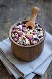 Assortimento dei fagioli e delle lenticchie organici asciutti Immagine Stock Libera da Diritti