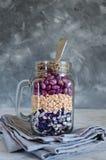 Assortimento dei fagioli e delle lenticchie organici asciutti Immagini Stock