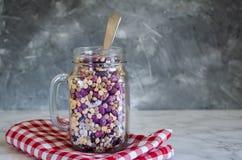 Assortimento dei fagioli e delle lenticchie organici asciutti Fotografia Stock Libera da Diritti