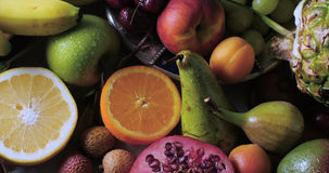 Assortimento dei frutti freschi, sani, organici Immagine Stock Libera da Diritti