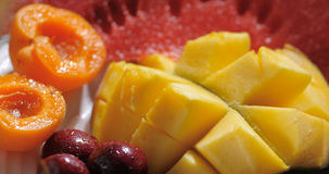 Assortimento dei frutti freschi, sani, organici Fotografie Stock