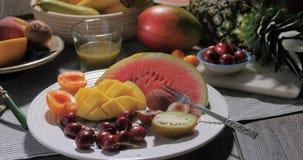 Assortimento dei frutti freschi, sani, organici Fotografia Stock